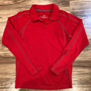 Patagonia Vneck Shirt Red Polyester Tencel Spandex